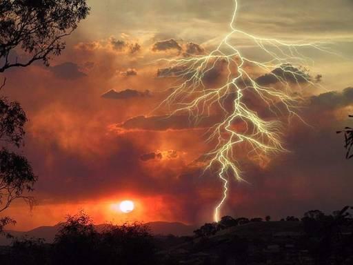 A bolt of lightning