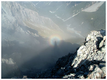 Looking down on a rainbow