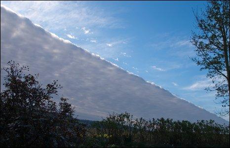 Diagonal cloud