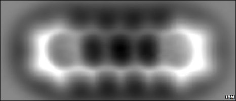 Tha first photo to show a complete molecule