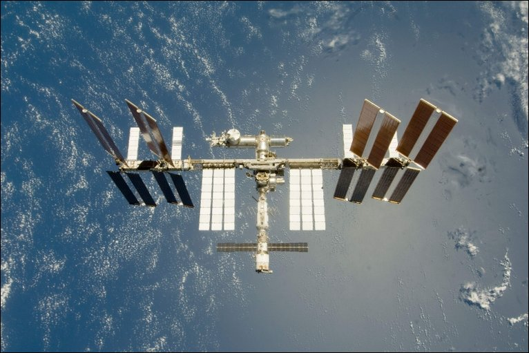 Seen from the space shuttle Endeavour