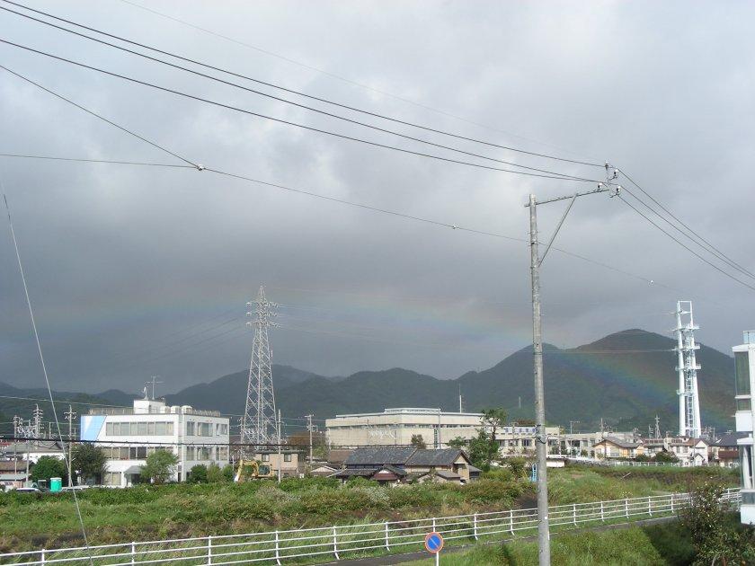 Rainbow across Mariko River in Shizuoka city