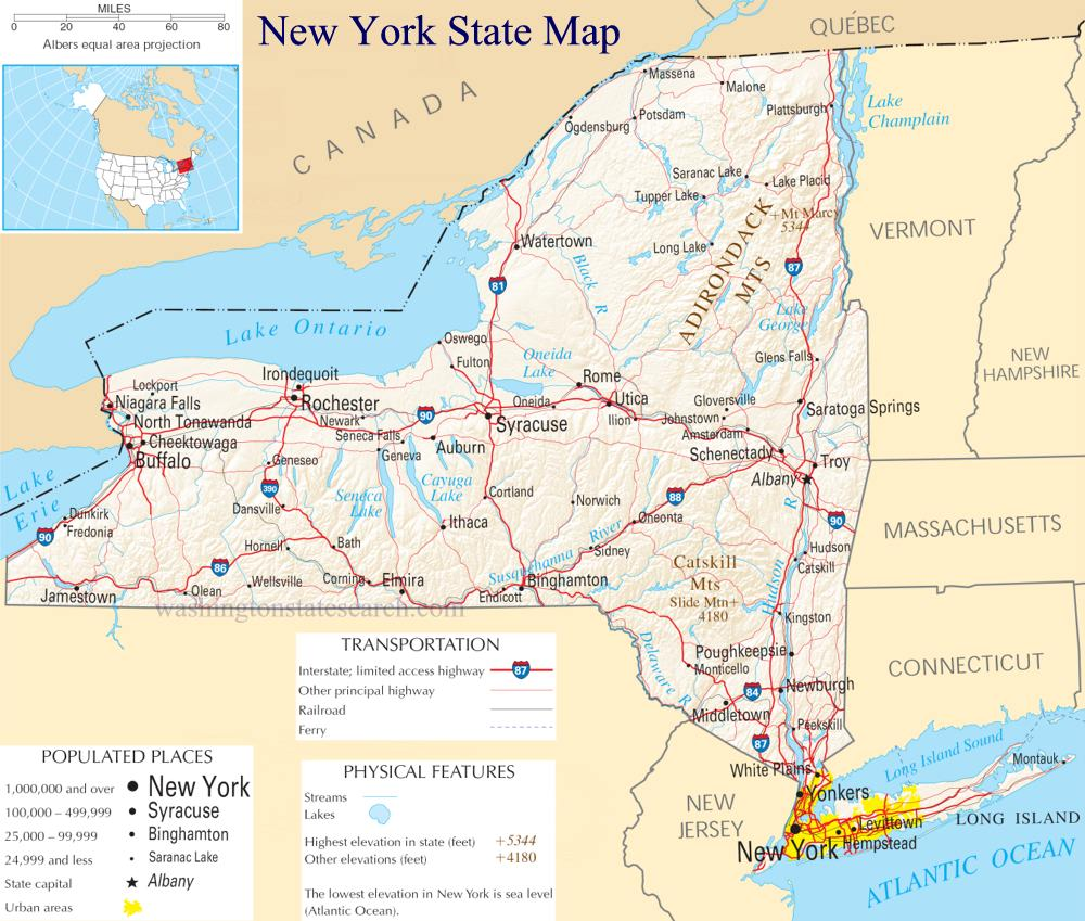 New York State Map Think Twice