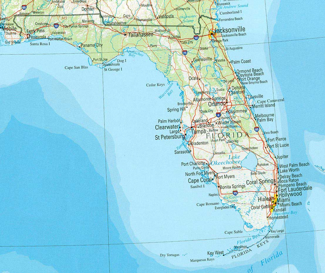 Florida Adobe Illustrator Map With Counties Cities County Seats - Florida map usa