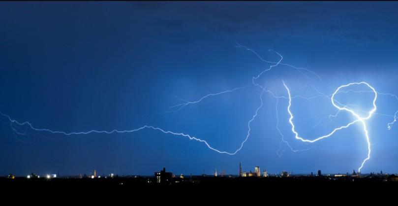Lightning over Munich