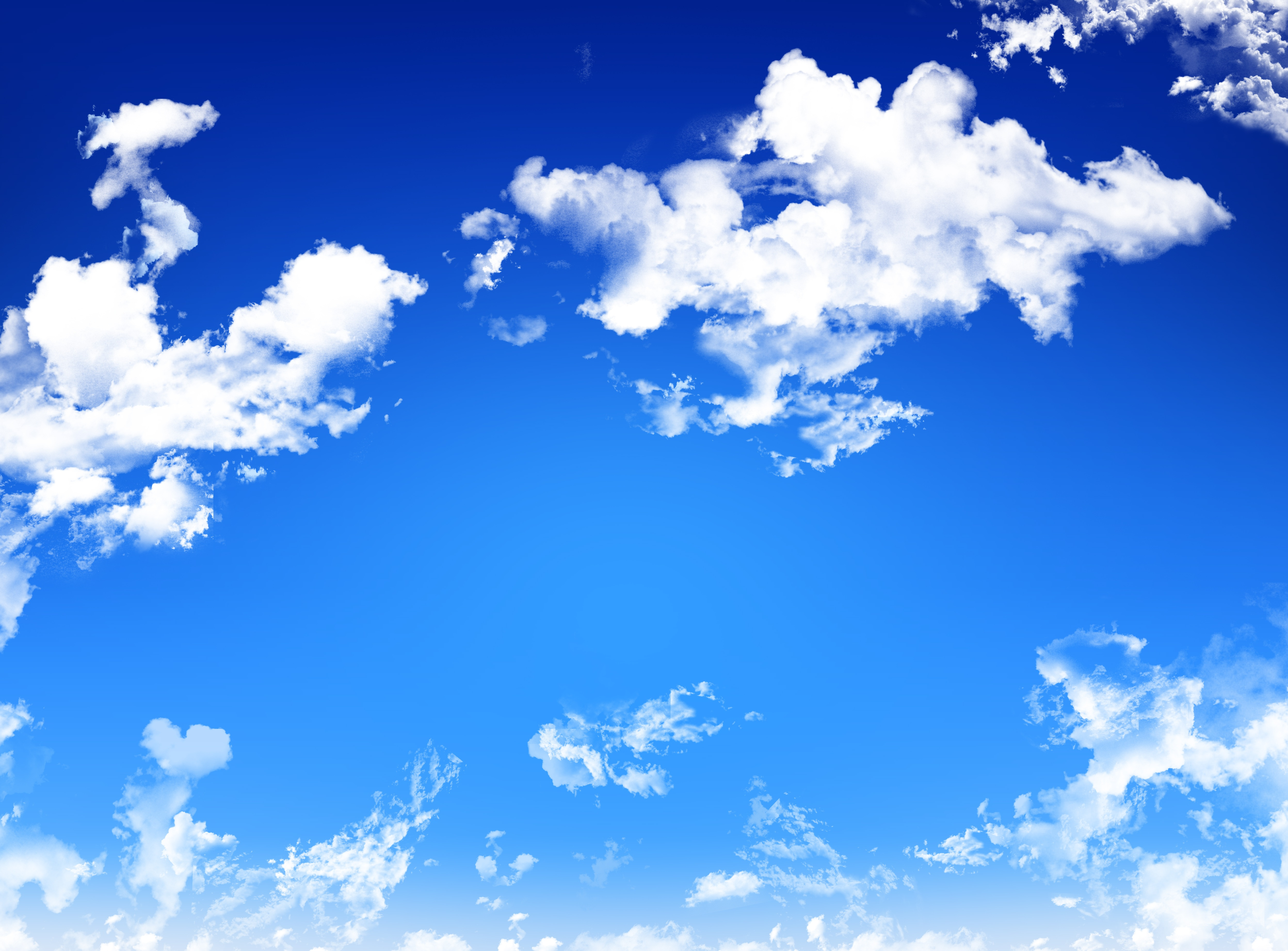 Blue Sky with White Clouds Clouds