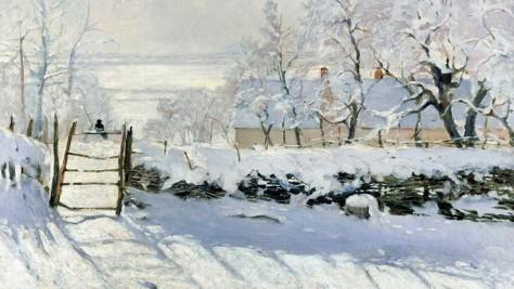 Magpie, Monet 1869