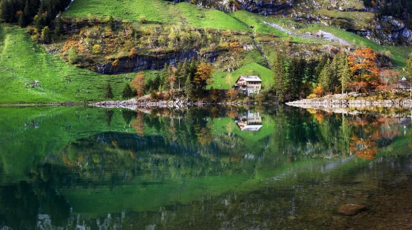 Lake Seealpsee, Switzerland