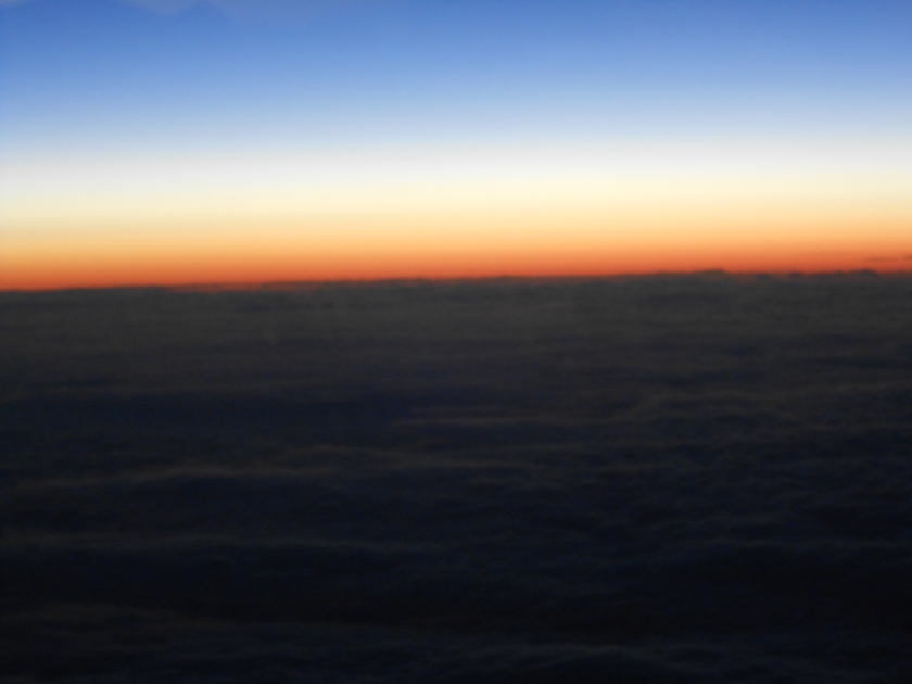 Sunrise above the clouds 2