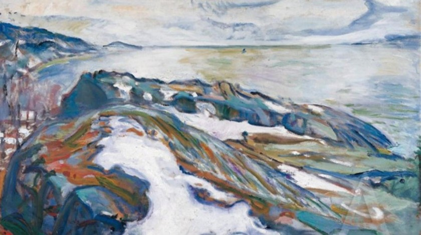 Winter Landscape, Munch, 1915